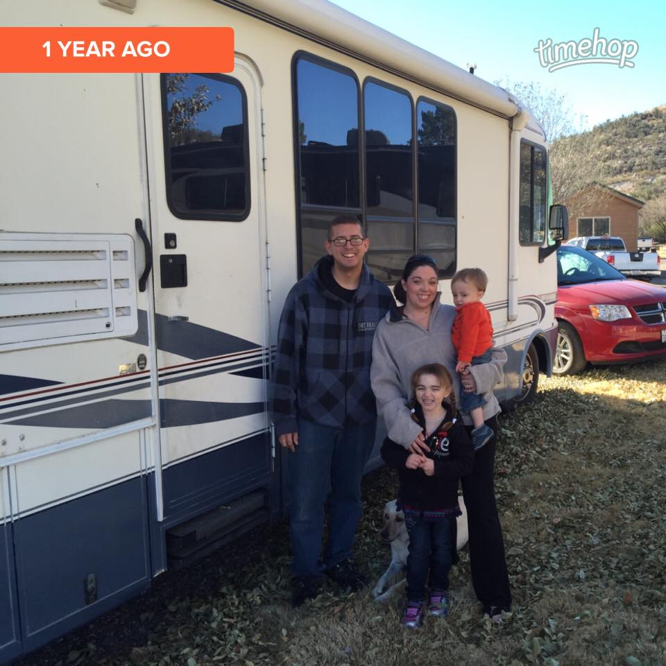 One year ago, we pulled out of our very first campsite (in Camp Verde, AZ) and hit the road! Spoiler alert: Goodbyes are hard and we didn't make it very far that first day!